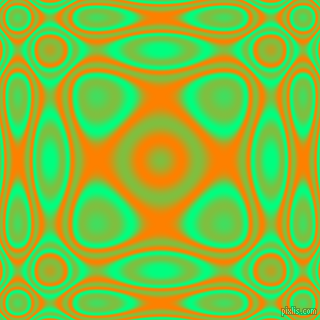 , Spring Green and Dark Orange plasma wave seamless tileable