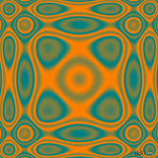 Teal and Dark Orange plasma wave seamless tileable