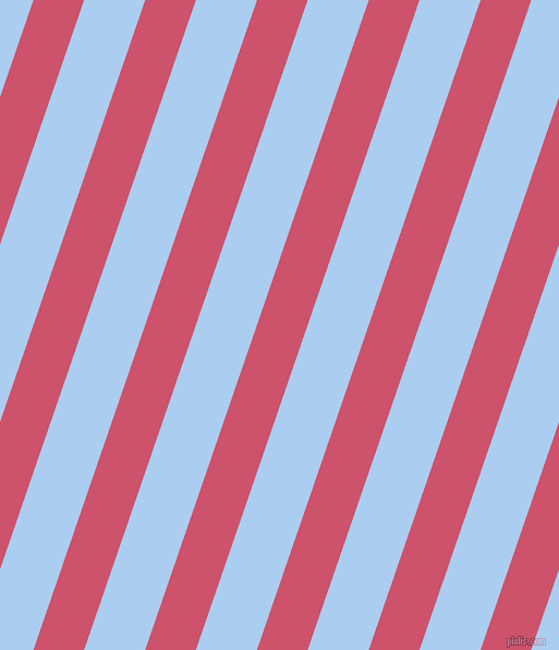 71 degree angle lines stripes, 44 pixel line width, 53 pixel line spacing, Cabaret and Pale Cornflower Blue stripes and lines seamless tileable
