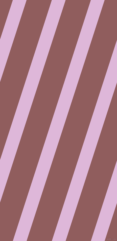 72 degree angle lines stripes, 53 pixel line width, 97 pixel line spacing, French Lilac and Rose Taupe stripes and lines seamless tileable