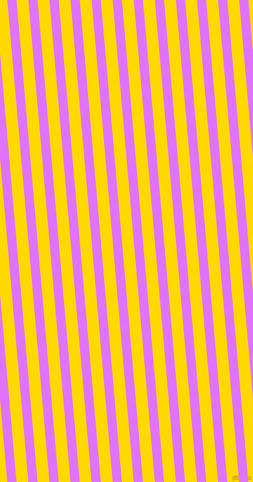 95 degree angle lines stripes, 18 pixel line width, 23 pixel line spacing, Heliotrope and School Bus Yellow stripes and lines seamless tileable