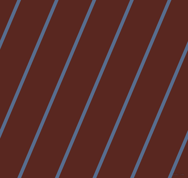 67 degree angle lines stripes, 11 pixel line width, 100 pixel line spacing, Kashmir Blue and Caput Mortuum stripes and lines seamless tileable
