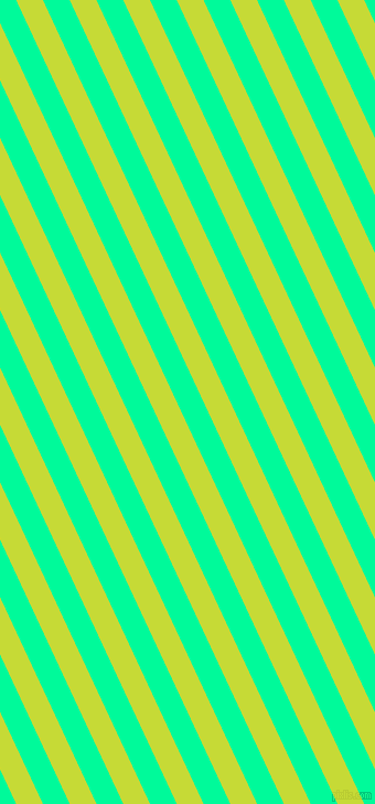 115 degree angle lines stripes, 22 pixel line width, 22 pixel line spacing, Las Palmas and Medium Spring Green stripes and lines seamless tileable