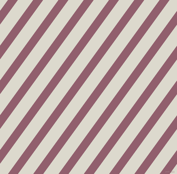 54 degree angle lines stripes, 32 pixel line width, 49 pixel line spacing, Mauve Taupe and Milk White stripes and lines seamless tileable