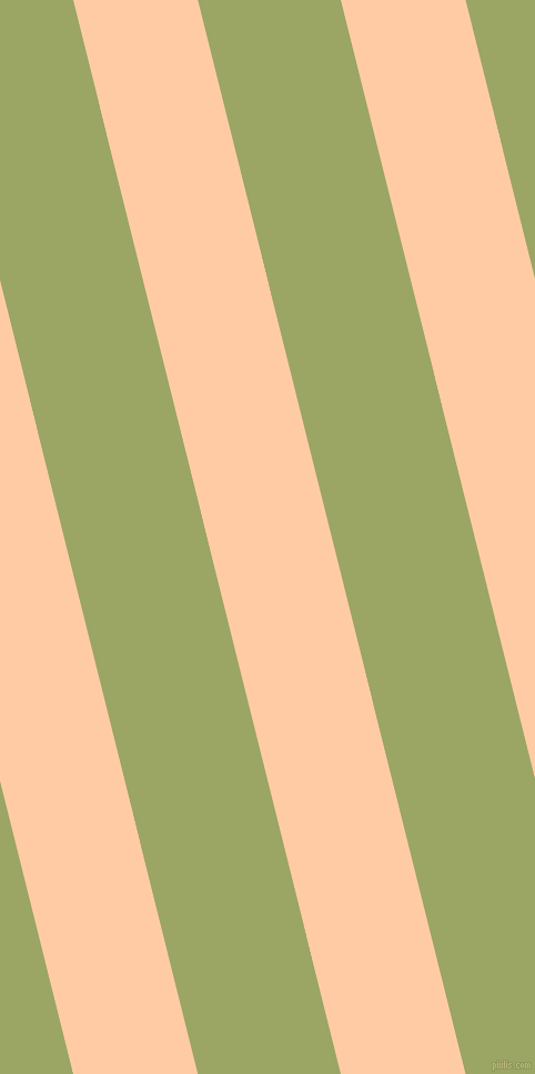 104 degree angle lines stripes, 109 pixel line width, 125 pixel line spacing, Peach and Green Smoke stripes and lines seamless tileable