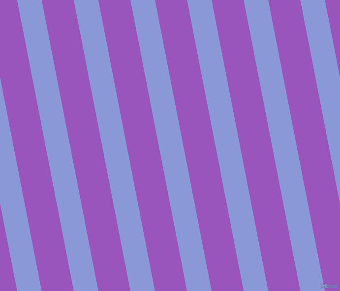 101 degree angle lines stripes, 49 pixel line width, 64 pixel line spacing, Portage and Deep Lilac stripes and lines seamless tileable