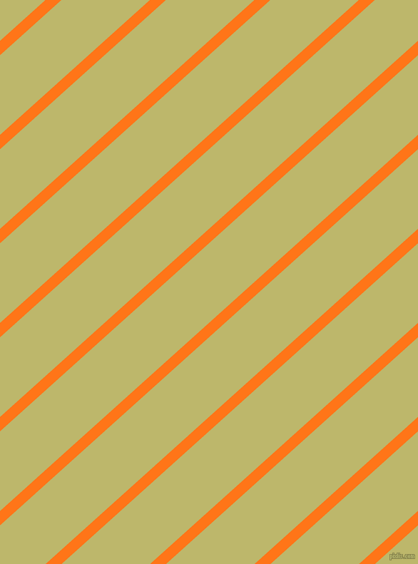 42 degree angle lines stripes, 15 pixel line width, 83 pixel line spacing, Pumpkin and Dark Khaki stripes and lines seamless tileable