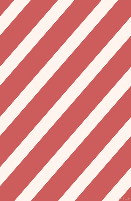 49 degree angle lines stripes, 42 pixel line width, 69 pixel line spacing, Seashell and Indian Red stripes and lines seamless tileable
