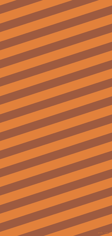 18 degree angle lines stripes, 27 pixel line width, 30 pixel line spacing, Sepia and Tree Poppy stripes and lines seamless tileable