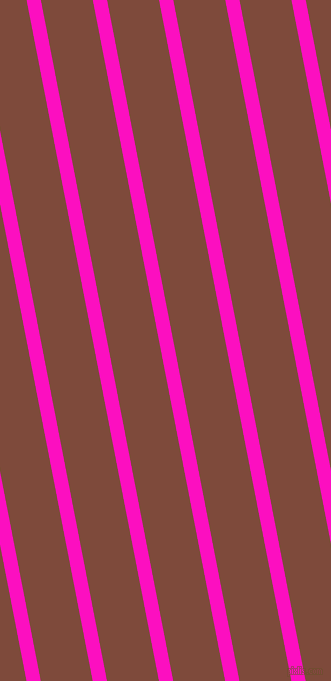 101 degree angle lines stripes, 14 pixel line width, 51 pixel line spacing, Shocking Pink and Nutmeg stripes and lines seamless tileable