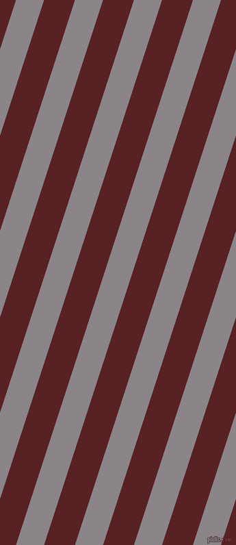 72 degree angle lines stripes, 39 pixel line width, 43 pixel line spacing, Taupe Grey and Burnt Crimson stripes and lines seamless tileable