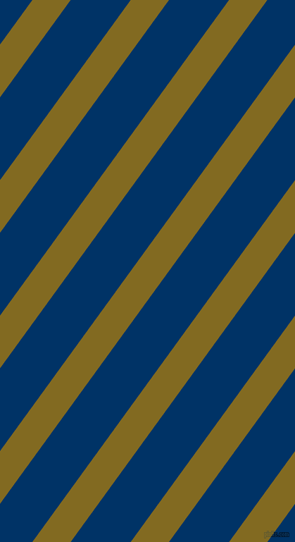 54 degree angle lines stripes, 44 pixel line width, 69 pixel line spacing, Yukon Gold and Prussian Blue stripes and lines seamless tileable