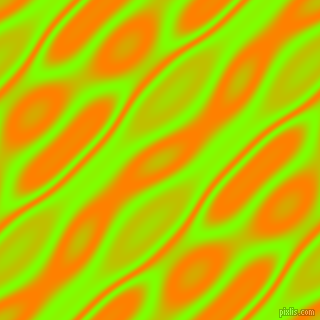 , Chartreuse and Dark Orange wavy plasma seamless tileable
