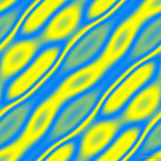, Dodger Blue and Yellow wavy plasma seamless tileable